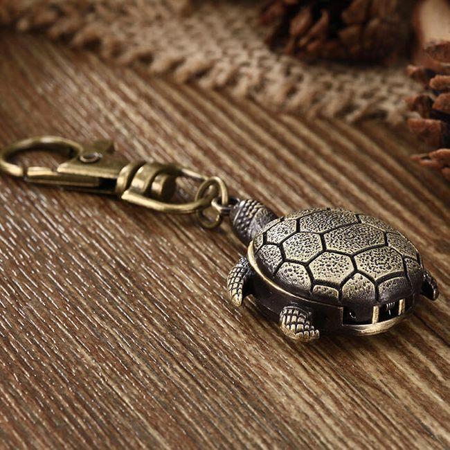 Džepni sat za ključeve u obliku kornjače 1
