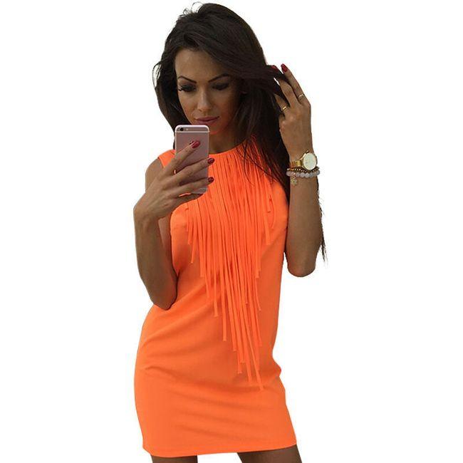 Ženska mini obleka v pastelnih barvah 1