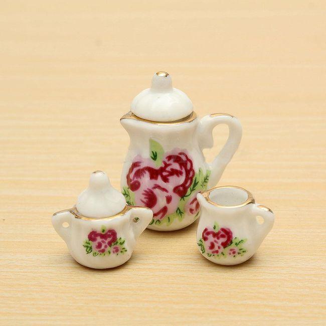 Porcelanski set za kavo za lutke 1