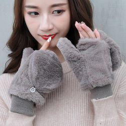 Damskie rękawiczki bez palców WG14