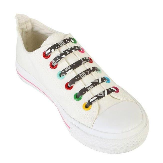 Szilikon cipőfűző eredeti kivitelben - 6 változat