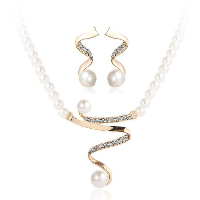 Sada šperků - umělé perly 1