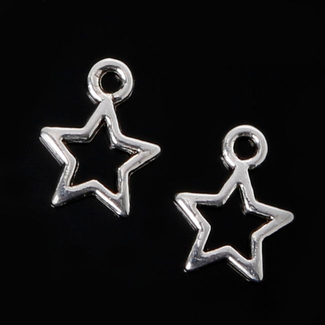 Přívěsky - hvězdy, 10 kusů 1