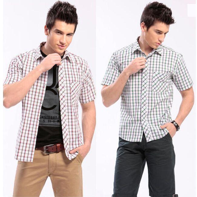 Pánská kostkovaná košile - 2 barvy 1