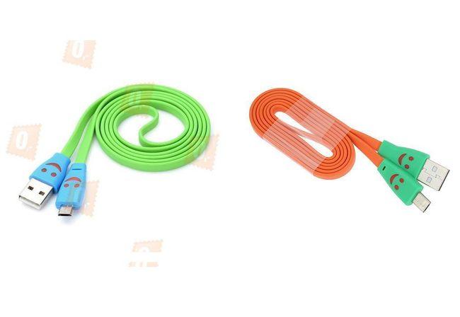 Veselý micro USB datový kabel - 2 barevná provedení 1