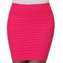 Elastyczna wąska spódnica w paski - różne kolory