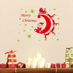 Karácsonyi matrica a falon - hold szán