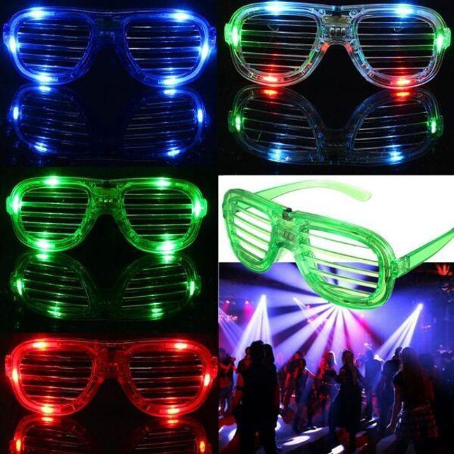 Мигающие светодиодные очки 1