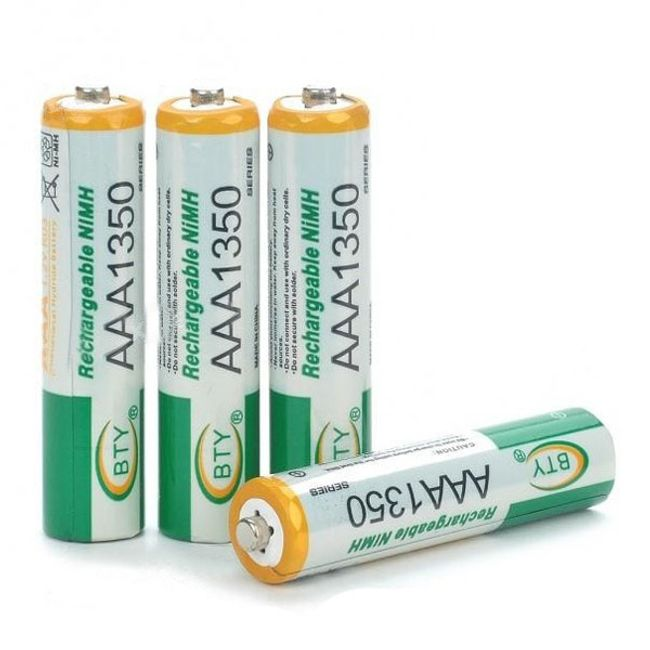 Bateria AAA BTY 1350mAh do wielokrotnego ładowania - 4 szt. 1