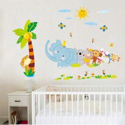 Samolepka na zeď pro děti - Veselá zvířátka