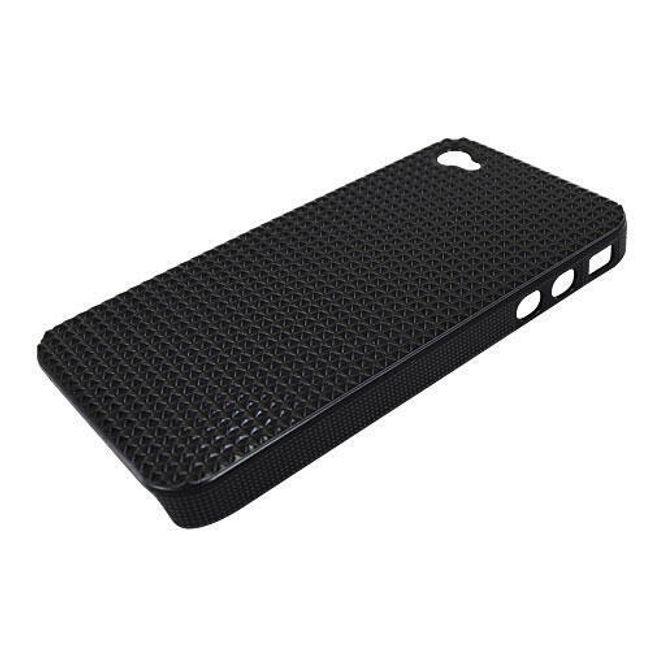 Plastový ochranný kryt na iPhone 4 a 4S - černý designový 1
