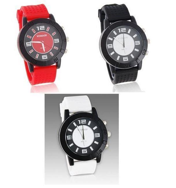 Analogové silikonové hodinky - na výběr ze 3 barev 1