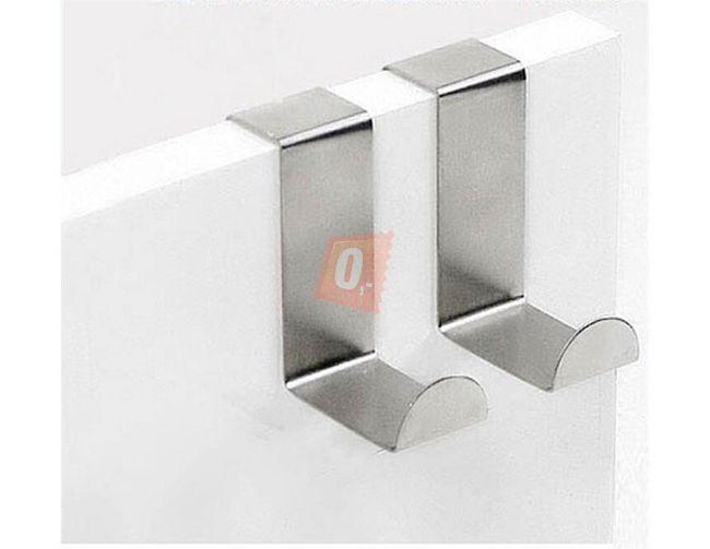 2 x nerezový závěsný držák - stříbrný 1
