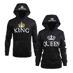Толстовки для пары - Король и королева