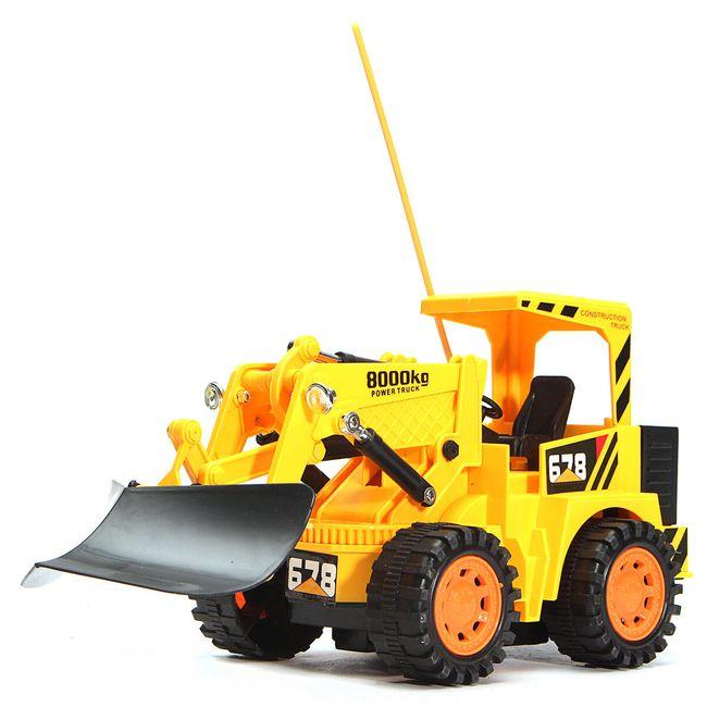 Buldozer na dálkové ovládání - žlutá barva 1