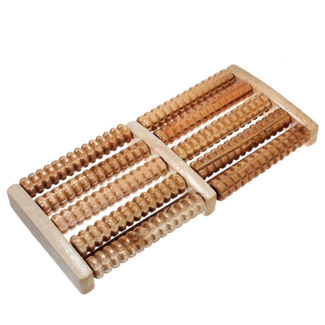Dřevěné masážní válečky pro masáž chodidel 1