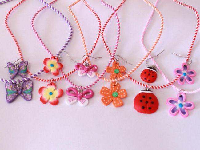 Dečiji komplet ogrlice i minđuše 1