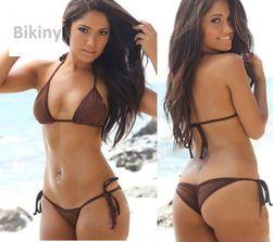 Damskie, minimalistyczne bikini z wiązaniem