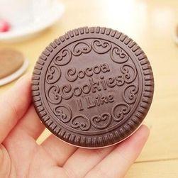 Malé zrcátko ve tvaru sušenky