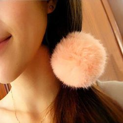 Gumička do vlasů s chlupatou kuličkou - více variant