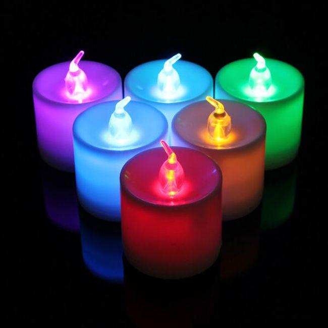 Dekoracija v obliki LED sveč 1