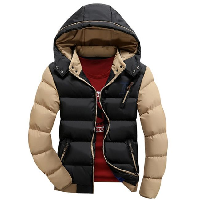 Zimní bunda Edmondo s kožíškem i bez - Černá-velikost č. L 1