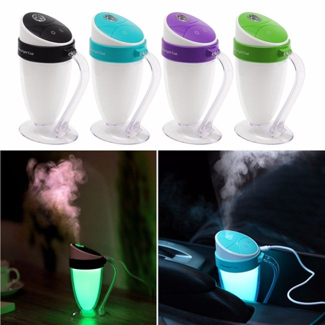 Přenosný mini USB zvlhčovač vzduchu neboli difuzér - různé barvy 1