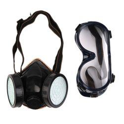 Plynová maska s ochrannými brýlemi