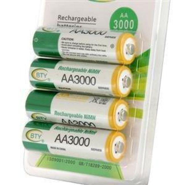 Nabíjecí tužkové AA baterie BTY 3000mAh Ni-MH - 4ks 1