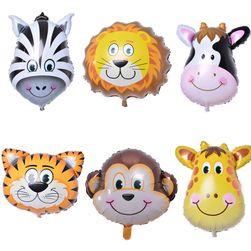 Balony urodzinowe w kształcie zwierząt - 6 sztuk