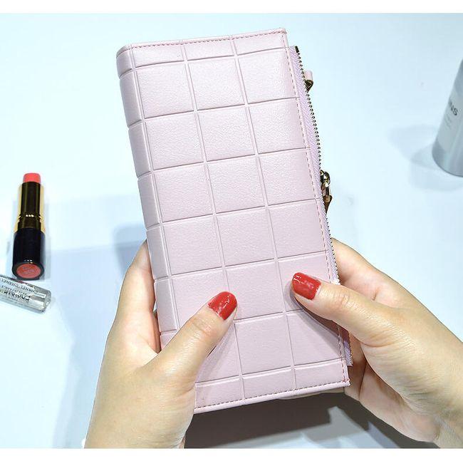 Luxusní peněženka se čtverečky 1