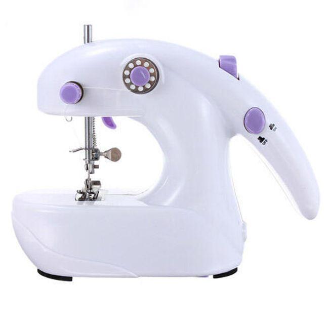 Mini šicí stroj - bílofialový 1