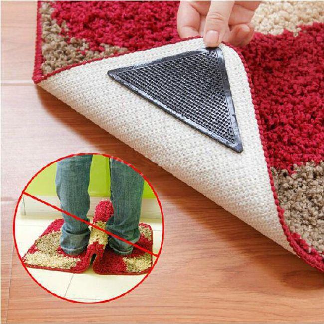 Подложки против подхлъзване за килим - 4 броя  1
