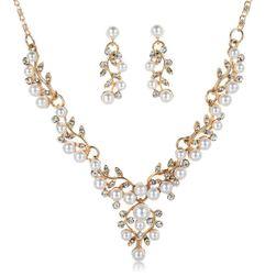 Zestaw biżuterii ślubnej - 2 kolory