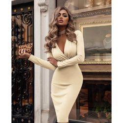 Ženska obleka z dolgimi rokavi Franchesca size M