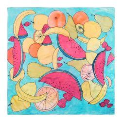 Hedvábný šátek ručně malovaný Ovoce