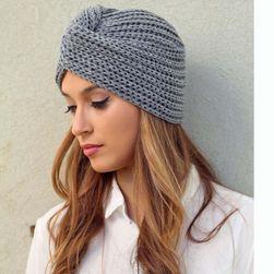 Dámská pletená čepice ve stylu turbanu - 8 barev