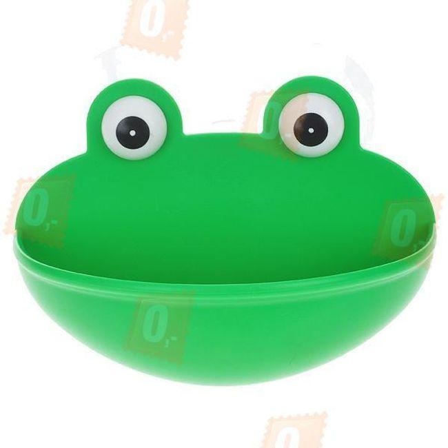 Originální držák na mýdlo a drobné předměty - žabka 1