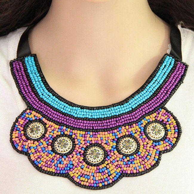 Korálkový boho náhrdelník 1