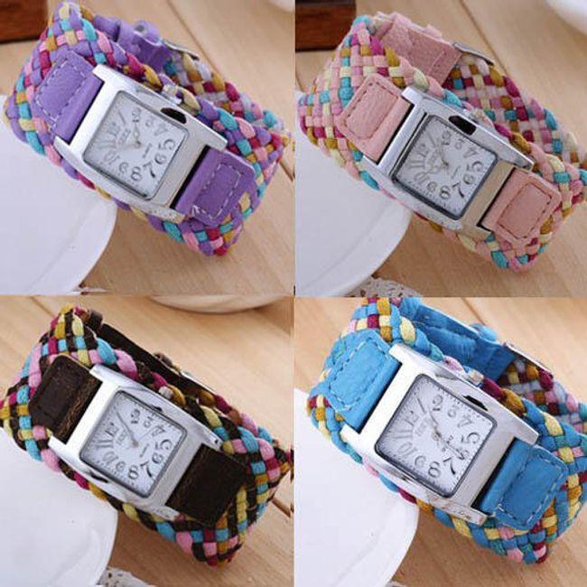 Damski zegarek z przeplatanym paskiem - 7 kolorów 1