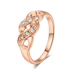 Elegáns gyűrű kövekkel - 2 szín