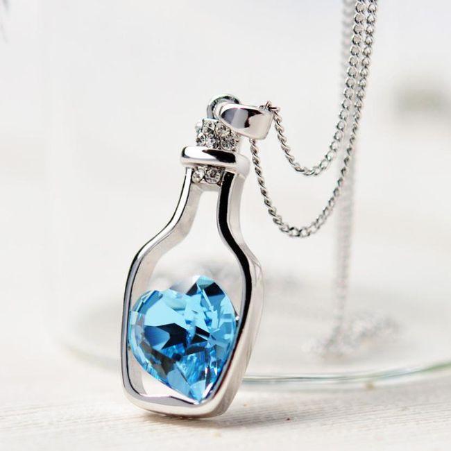 Srce v steklenici - ogrlica 1