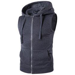 Pánská vesta s kapucí - 4 barvy
