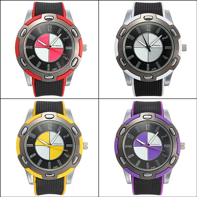 Outdoorové náramkové hodinky se silikonovým páskem ve 4 různých barvách 1