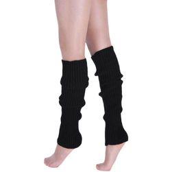 Teplé návleky na nohy - černá barva