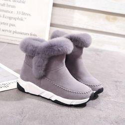 Tople ženske cipele sa višim đonom