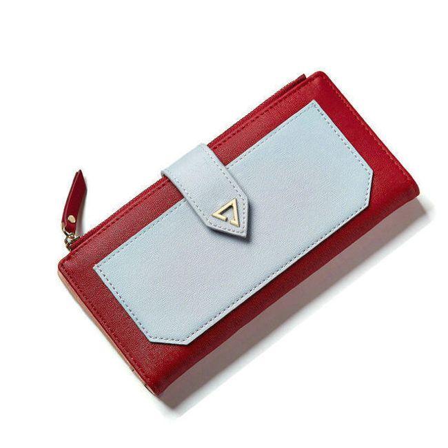 Dvoubarevná dámská peněženka - 6 barev 1