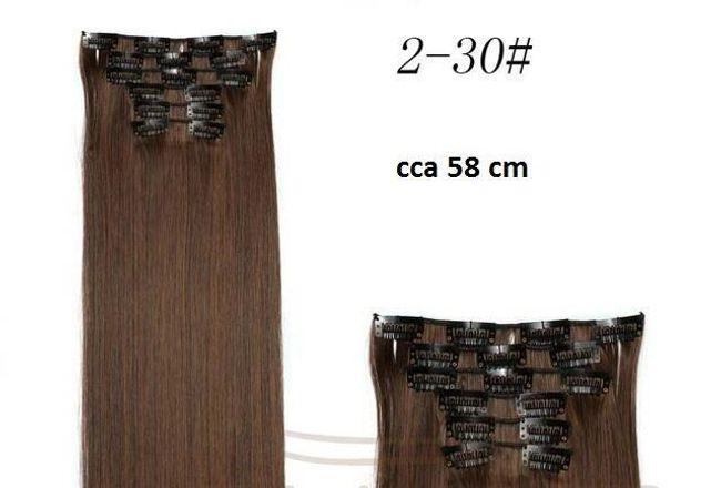 Vlasový příčesek v různých barvách s šestnácti klipy - 2m30 1