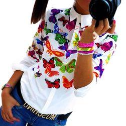 Dámská košile s barevnými motýly