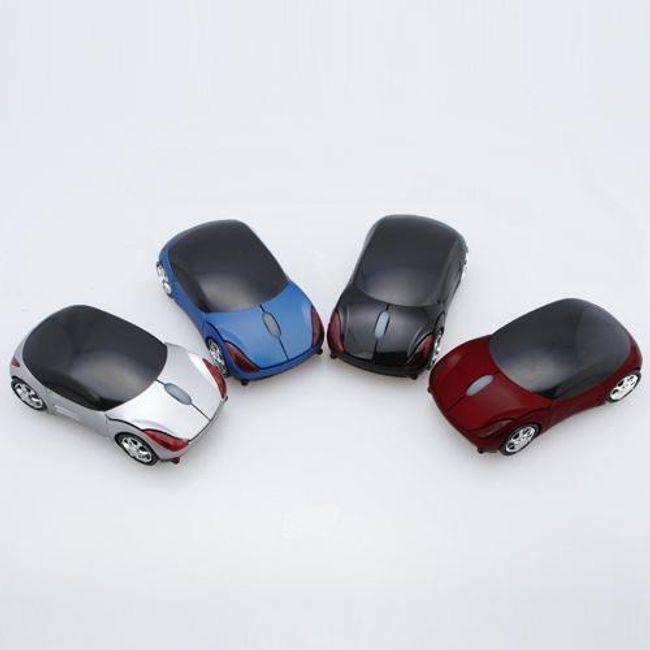 Bezdrátová optická myš ve tvaru autíčka - na výběr ze 4 variant 1
